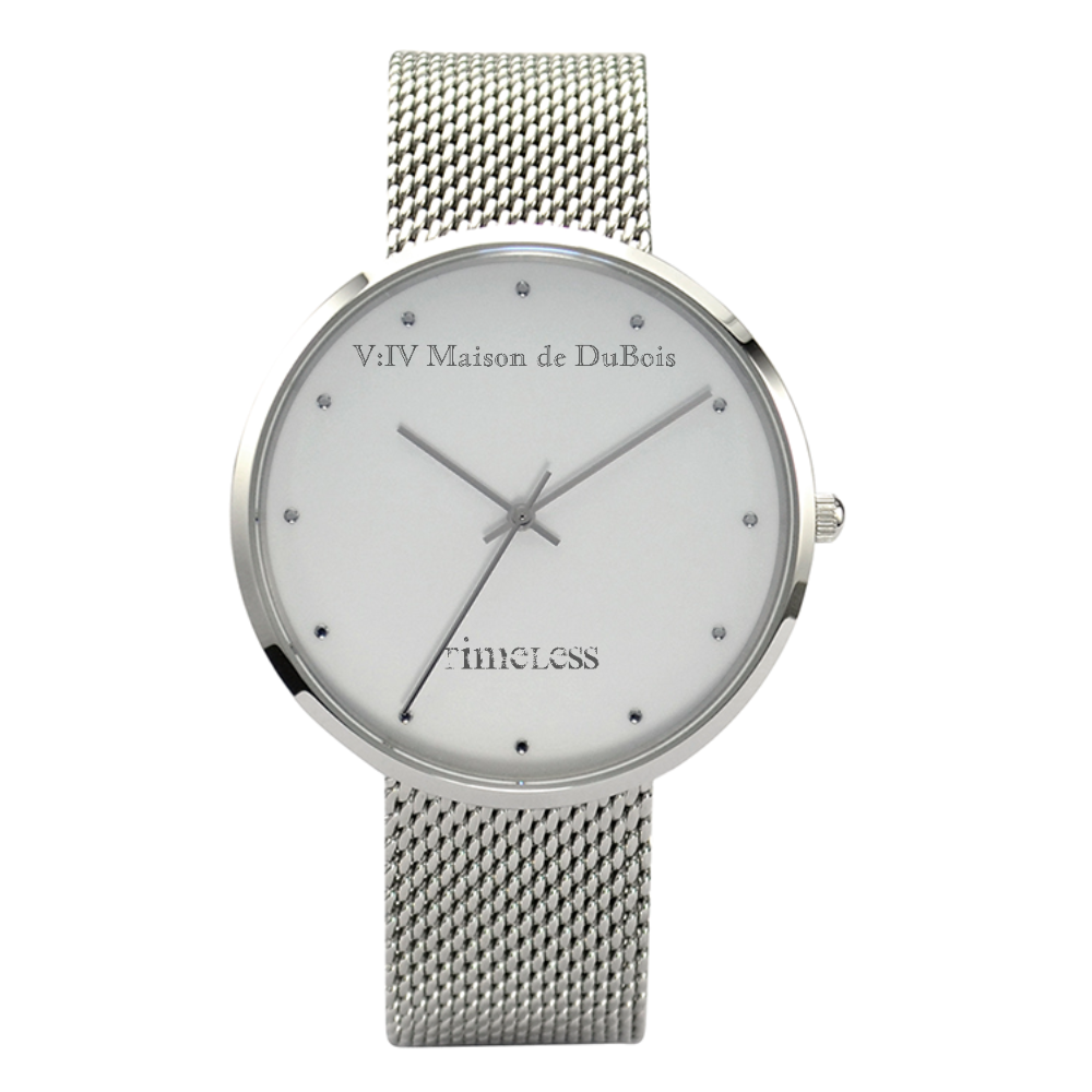 V:IV MAISON DE DUBOIS 30 METERS WATERPROOF QUARTZ TIMELESS COLLECTION w/ Stainless Steel Band