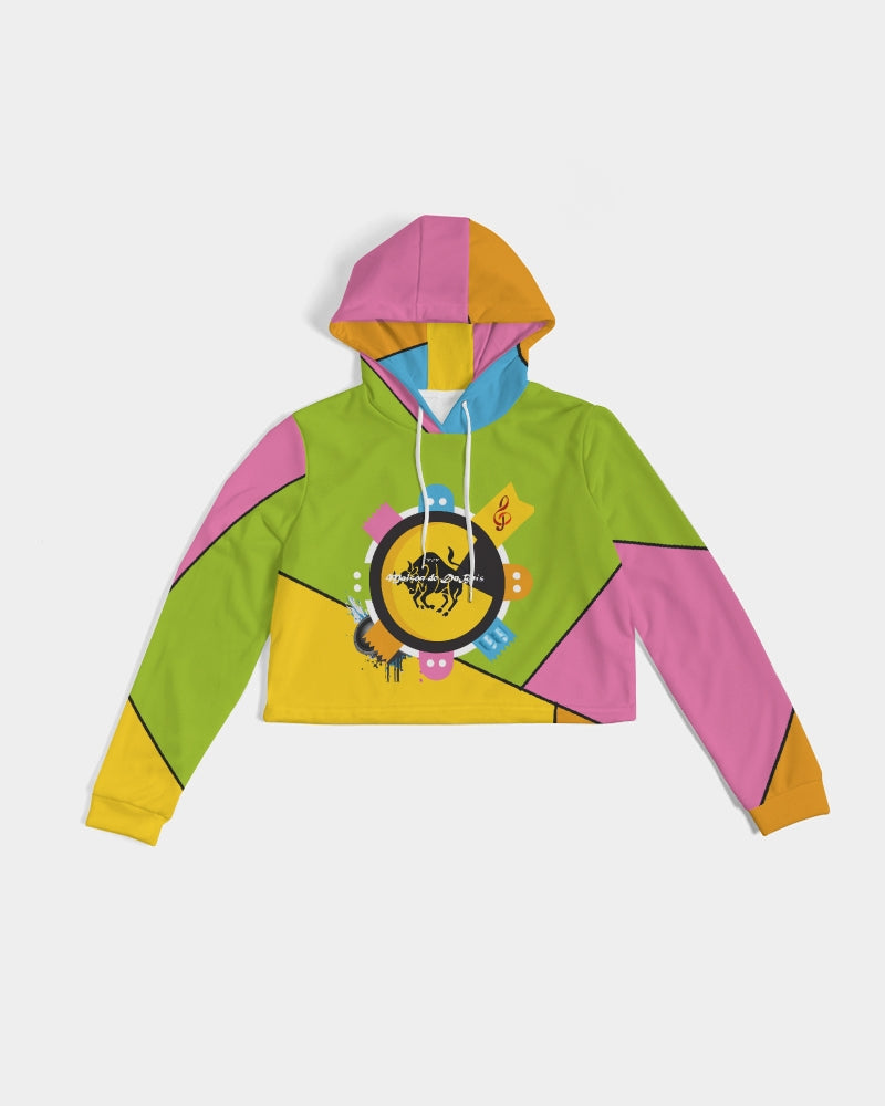 Pop Art Women's Cropped Hoodie
