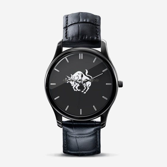 Classic Bull Black Quartz Watch