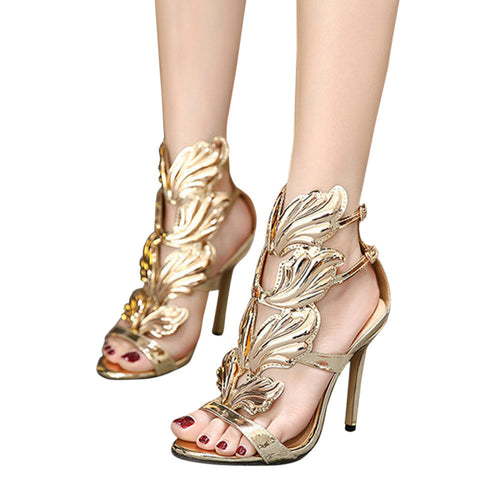 Leaf Flame High Heel Shoes