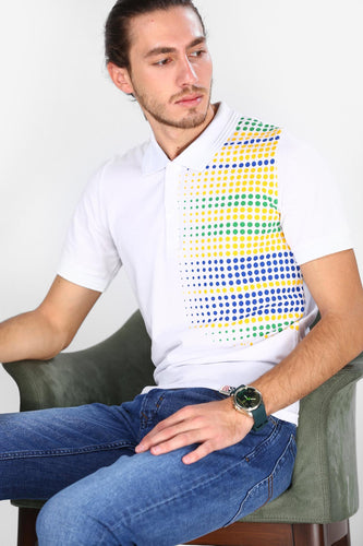 Collar Patterned T-Shirt