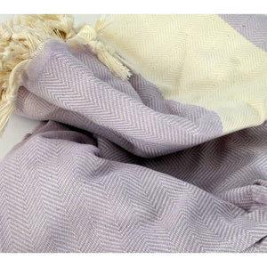 Zig Zag Texture Blanket Towel Made of Quality Cotton