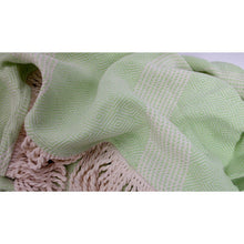 Load image into Gallery viewer, Diamond Weave Roundie Turkish Towel Peshtemal