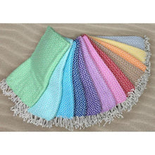 Load image into Gallery viewer, Super Soft Turkish Towel with Minimal Diagonal Patterns and Various Color Options