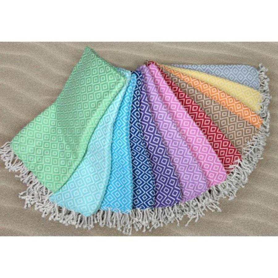 Super Soft Turkish Towel with Minimal Diagonal Patterns and Various Color Options