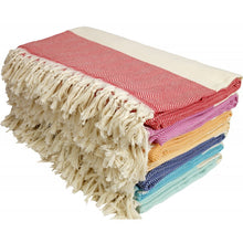 Load image into Gallery viewer, Zig Zag Texture Blanket Towel Made of Quality Cotton