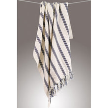 Load image into Gallery viewer, Cotton Peshtemal Traditional Turkish Towel Vertical Striped