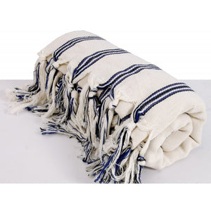 Cotton Peshtemal Traditional Turkish Towel Vertical Striped