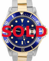 40mm Pre-Owned Rolex Submariner SS/18Y Blue Dial Blue Bezel Oyster Band