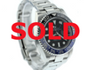 "40MM PRE-OWNED ROLEX GMT MASTER II ""BATMAN""  BLUE/BLACK BEZEL, BLACK DIAL, OYSTER BAND"