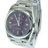 36mm Pre-Owned Rolex Oyster Perpetual Red Grape Dial Oyster Band