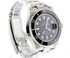 40mm Pre-Owned Rolex Submariner SS Black Dial Ceramic Black Bezel Oyster Band