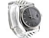 36mm Pre-Owned Rolex Datejust SS/18W Gray Dial Jubilee Bracelet