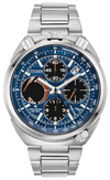 Men's Citizen Eco-Drive Promaster Tsuno Chronograph Racer 45mm Stainless Steel Black Azure Dial