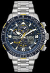 Men's Citizen Eco-Drive Promaster Skyhawk A-T 46mm SS Dark Blue Yellow Accents