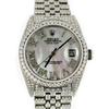36mm Pre-Owned Rolex DATEJUST 10.50CTW RBC MOP ROMAN NUMERAL DIAL JUBILEE BAND
