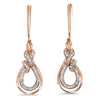 14KW Diamond Earrings 1/6 ctw