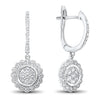 White Gold Diamond Earrings 5/8 ctw