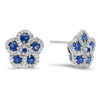 14K Diamond and Sapp Earrings 1gtw