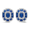 14K diamond and sapp Earrings 2gtw