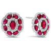 14K diamond and ruby Earrings 13/4gtw