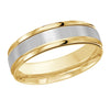 MALO WEDDING BAND 10KT YELLOW AND WHITE GOLD 6MM DESIGN BAND