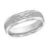 MALO WEDDING BAND 10KT WHITE GOLD 6MM HAMMERED DESIGN BAND