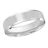 MALO WEDDING BAND 10KT WHITE GOLD 6MM DESIGN BAND