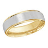 MALO WEDDING BAND 10KT WHITE AND YELLOW GOLD 6MM DESIGN BAND