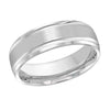 MALO WEDDING BAND 10KT WHITE GOLD 7MM DESIGN BAND