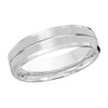 MALO WEDDING BAND 10KT WHITE GOLD 6MM GROOVE DESIGN BAND