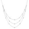 Silver Diamond Necklace 1/4 ctw