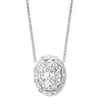 Oval Cluster Diamond Pendant