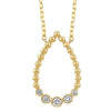 14K Yellow Gold Diamond Teardrop Pendant 1/8ct