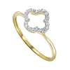 Gold Diamond Bridal Set 1/4 ctw