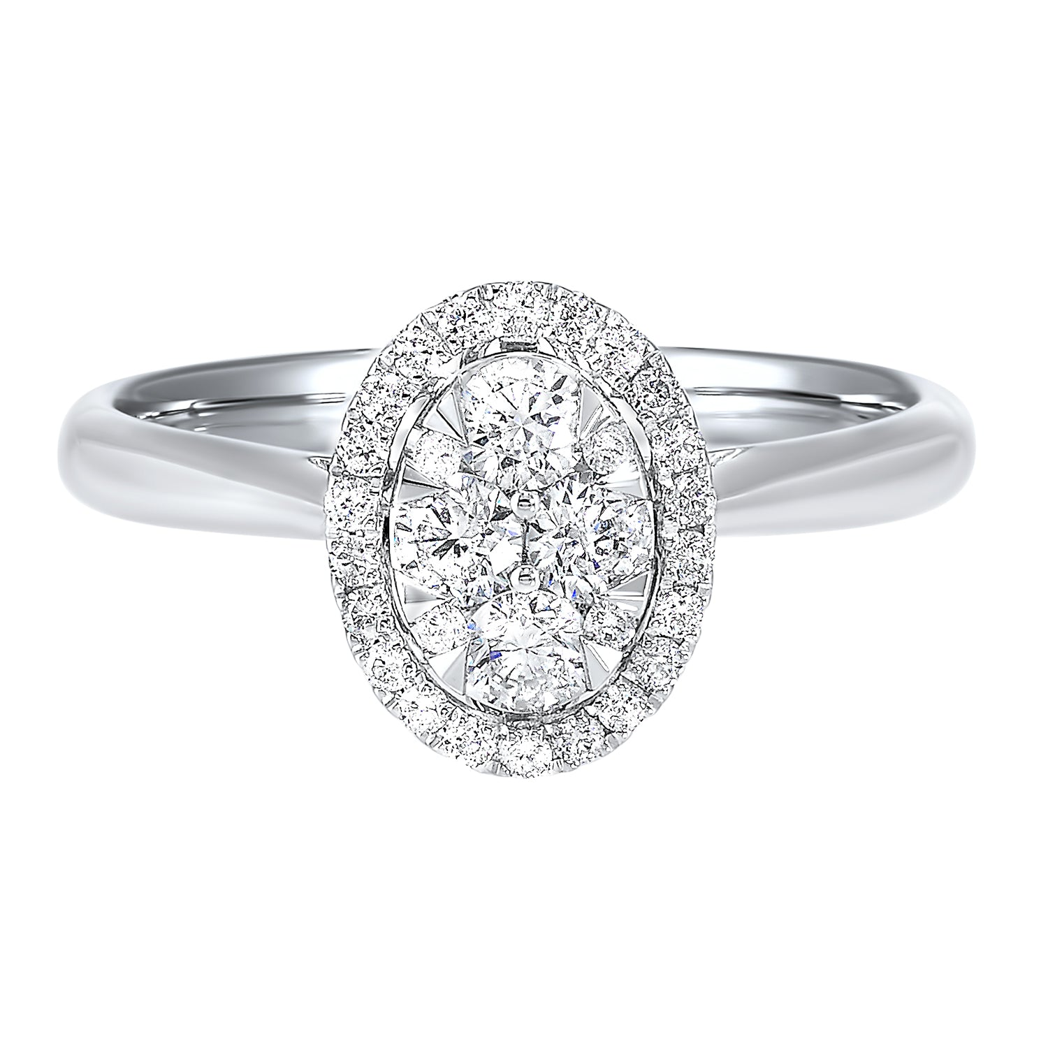 Oval Cluster Diamond Ring - Peter Franklin