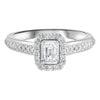 14KW Emerald Cut Diamond Engagement Ring