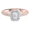 14KR Emerald Cut Diamond Engagement Ring