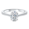 14KT White Gold Oval Diamond Solitaire Ring