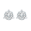 14K White Gold Diamond 3/4CTW Studs 3-Prong