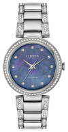 Citizen Ladies' Eco-Drive Silhouette Swarovski Crystal Blue MOP Stainless Steel