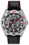 Citizen Men's Marvel Spider-Man Eco-Drive Watch Gray Black Leather Strap