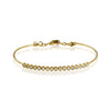 ZEGHANI BRACELET, 14Y 17=.59TW RBC BANGLE 4.1GR