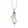 ZEGHANI NECKLACE, 14WY 24=.22TW RBC W/CHAIN 6.5GR