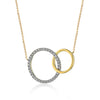 ZEGHANI NECKLACE, 14YW 34=.15TW RBC CIRCLES 19″ ADJ CHAIN 2.6GR