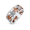 ZEGHANI FASHION RING, 14WR .16TW RBC FLORAL DESIGN BAND 5.4GR
