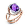 ZEGHANI FASHION RING, 14WR 3.63CT AMY & 88=.58TW RBC