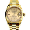 26mm Pre-Owned Rolex President 18Y Champagne Dial Fluted Bezel Oyster Band