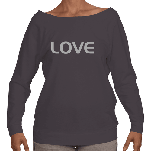 LOVE Ladies French Terry Longsleeve Shirt