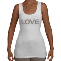 Load image into Gallery viewer, LOVE Ladies Tank White